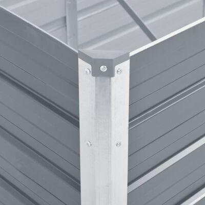 vidaXL augstā puķu kaste, cinkots tērauds,  320x80x45 cm, pelēka
