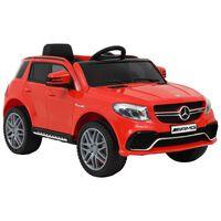 vidaXL bērnu rotaļu auto, Mercedes Benz GLE63S, plastmasa, sarkans