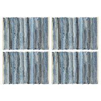 vidaXL Chindi galda paliktņi, 4 gab., džinsu zili,  30x45 cm, kokvilna