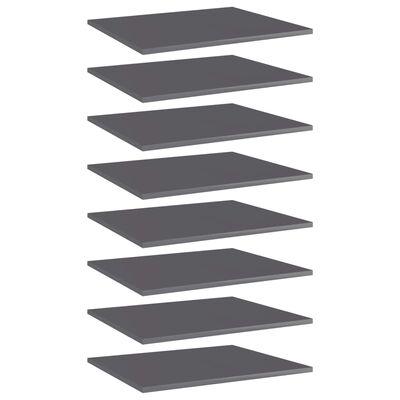 vidaXL plauktu dēļi, 8 gab., pelēki, 60x50x1,5 cm, skaidu plāksne