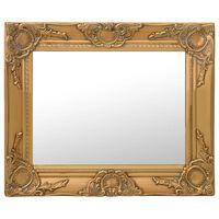 vidaXL baroka stila sienas spogulis, 50x40 cm, zelta krāsā
