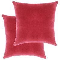 vidaXL spilveni, 2 gab., 45x45 cm, rozā samtveida kokvilna