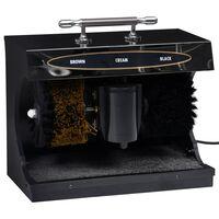 vidaXL elektriskā apavu pulēšanas ierīce, pilnībā automātiska, melna
