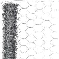 Nature sieta žogs, sešstūrains, 1x5 m, 13 mm, cinkots tērauds