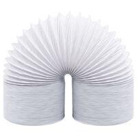 vidaXL izplūdes gaisa vads, PVC, 6 m, 12,5 cm