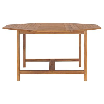 vidaXL dārza galds, 150x150x75 cm, masīvs tīkkoks