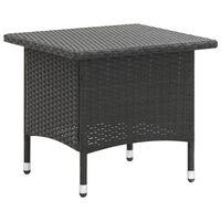 vidaXL tējas galdiņš, melns, 50x50x47 cm, PE rotangpalma