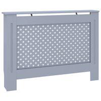 vidaXL radiatora pārsegs, antracītpelēks, 112x19x81 cm, MDF