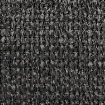 vidaXL HDPE saulessargs, 3,6x3,6x3,6 m, antracīta, trijstūra formas