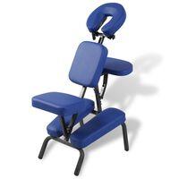 vidaXL masāžas krēsls, salokāms un pārvietojams, zils