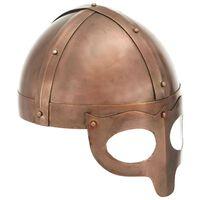 vidaXL vikingu bruņucepure, replika, vara krāsas tērauds