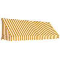 vidaXL markīze, 300x120 cm, oranža ar baltu