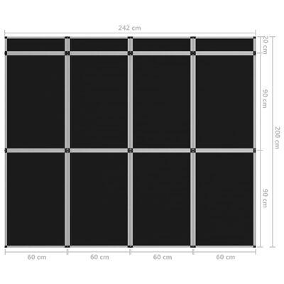 vidaXL 18-paneļu izstāžu ekspozīcijas siena, saliekama, 362x200 cm