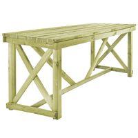 vidaXL dārza galds, 160x79x75 cm, koks