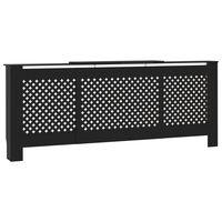 vidaXL radiatora pārsegs, melns MDF, 205 cm
