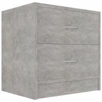 vidaXL naktsskapītis, betona pelēks, 40x30x40 cm, skaidu plāksne