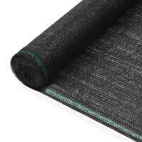 vidaXL tenisa laukuma tīkls, HDPE, 1,4x50 m, melns