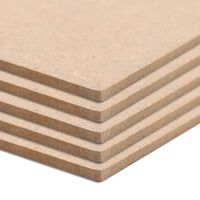 vidaXL MDF plāksnes, 10 gab., taisnstūra, 120x60 cm, 2,5 mm
