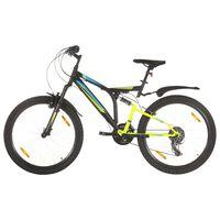 vidaXL kalnu velosipēds, 21 ātrums, 26'', 49 cm, melns