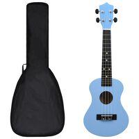 "vidaXL soprāna bērnu ukulele ar somu, zilgana, 23"""