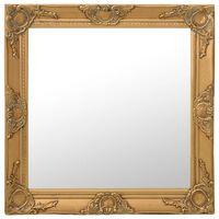 vidaXL baroka stila sienas spogulis, 60x60 cm, zelta krāsā