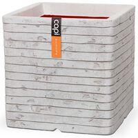 Capi puķu kaste Nature Row, kvadrāta, 40x40 cm, ziloņkaula, KRWI903