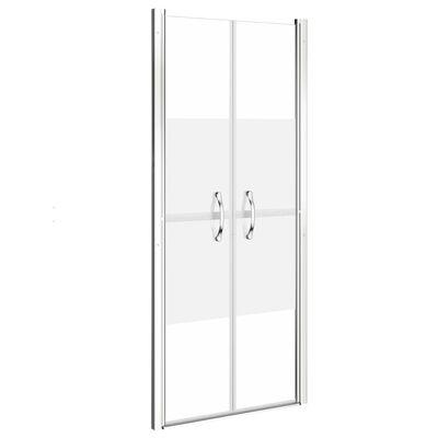 vidaXL dušas durvis, 86x190 cm, ESG, pusmatētas