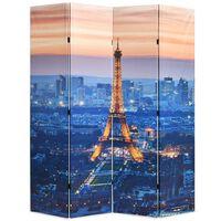 vidaXL istabas aizslietnis, 160x170 cm, saliekams, Parīze naktī