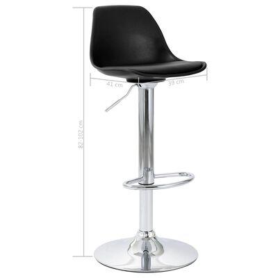vidaXL bāra krēsls, melna mākslīgā āda