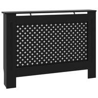vidaXL radiatora pārsegs, melns, 112x19x81 cm, MDF
