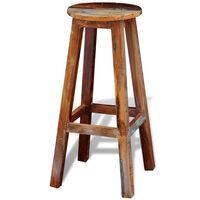 vidaXL bāra krēsls, pārstrādāts masīvkoks