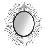 vidaXL dārza spogulis, saules forma, 80 cm, melns