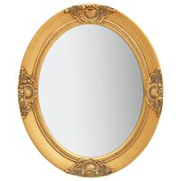 vidaXL baroka stila sienas spogulis, 50x60 cm, zelta krāsā