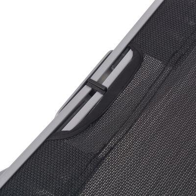 vidaXL saliekami sauļošanās zviļņi, 2 gab., alumīnijs, tekstilēns