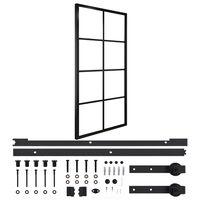 vidaXL bīdāmās durvis, alumīnijs un ESG stikls, 102,5x205 cm