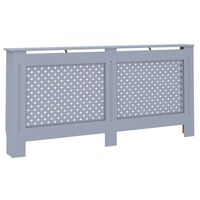 vidaXL radiatora pārsegs, antracītpelēks, 172x19x81 cm, MDF