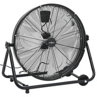 vidaXL industriāls ventilators, 60 cm, 180 W, melns
