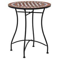 vidaXL mozaīkas bistro galds, 60 cm, brūna keramika