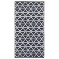 vidaXL āra paklājs, 160x230 cm, melns PP