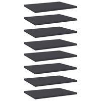 vidaXL plauktu dēļi, 8 gab., pelēki, 40x30x1,5 cm, skaidu plāksne