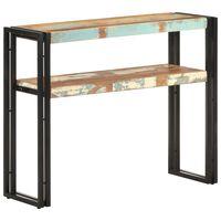 vidaXL konsoles galdiņš, 90x30x75 cm, pārstrādāts masīvkoks