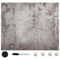 vidaXL magnētiskā tāfele, stiprināma pie sienas, stikls, 60x60 cm