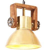 vidaXL griestu lampa, industriāls dizains, misiņa, 25 W, 19 cm, E27
