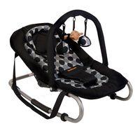 "Baninni bērnu šūpuļkrēsls ''Relax Classic"", melns ar apļiem"
