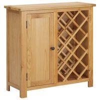 vidaXL vīna skapītis 11 pudelēm, 80x32x80 cm, ozola masīvkoks