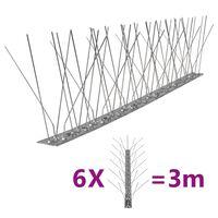 vidaXL putnu atbaidīšanas radzes, 5 rindas, 6 gab., 3 m, tērauds