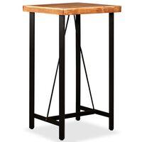 vidaXL bāra galds, 60x60x107 cm, akācijas masīvkoks