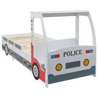 vidaXL bērnu gulta ar galdu, policijas mašīnas dizains, 90x200 cm