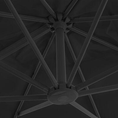 vidaXL saulessargs ar pamatni, pārnēsājams, antracītpelēks