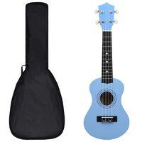 "vidaXL soprāna bērnu ukulele ar somu, zilgana, 21"""